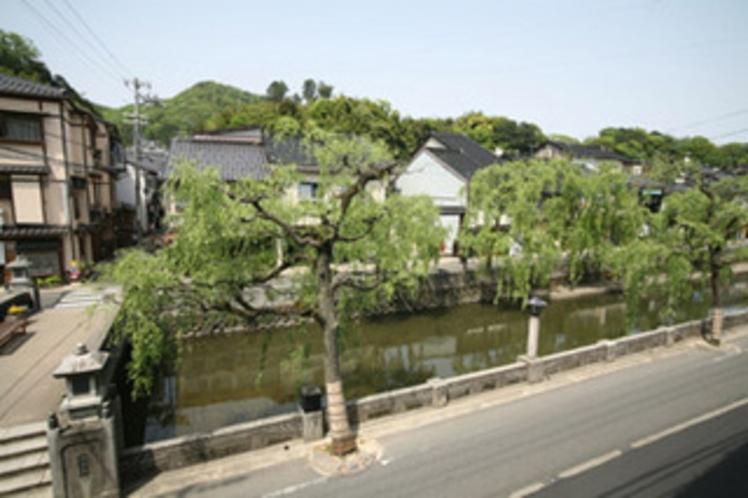 川沿いのお部屋からの眺め
