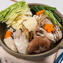 *【お食事一例】牡蠣鍋(冬季限定)