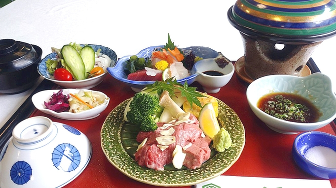 【1泊2食付】滋賀に来たならやっぱり名産≪近江牛≫を贅沢に陶板焼きで♪ビワイチ応援◎