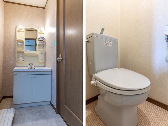 【本館】シングルルーム【喫煙】洗面所・トイレ