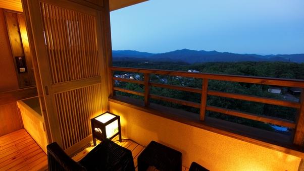 【上層階】温泉露天風呂付き和洋室A(3名定員)36平米