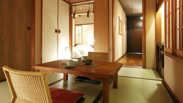 温泉露天風呂付き和洋室A(3名定員)36平米