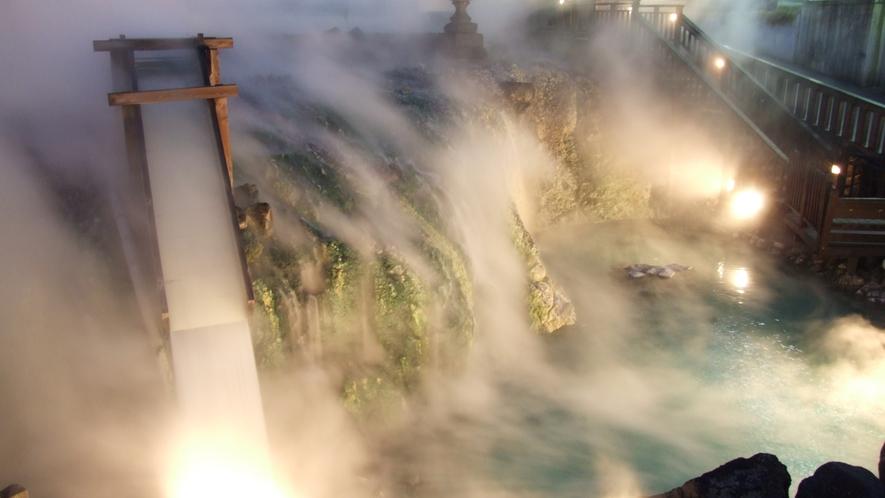●【周辺観光】湯畑(湯滝)