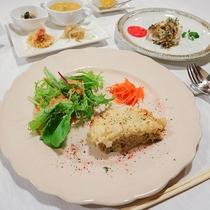 *夕食一例/食材、調味料、味付けに気を配り、身体に優しいお料理を心がけています。