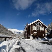 *外観/冬は、白と青のコントラストが美しいです♪