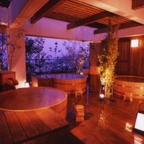 【温泉】6階にある展望露天風呂「天空の森」です。