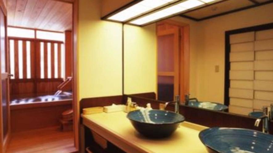 檜風呂付和洋室/洗面台