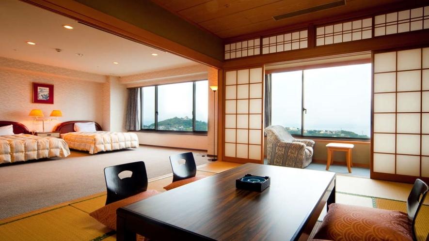 特別室・大地館和洋室/最上階に位置する和洋室のお部屋です