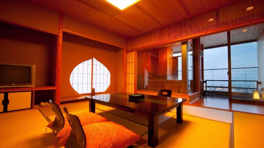 露天風呂付和室「なでしこ・はなみずき」/旅を演出する眺望と寛ぎの空間