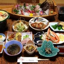 夕食一例(アワビ付)