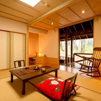 ◆露天風呂付客室◆〜あなただけの『蜜柑色の温泉♪』〜