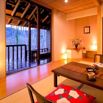 ◆露天風呂付客室◆宝仙湖側〜あなただけの『蜜柑色の温泉♪』〜