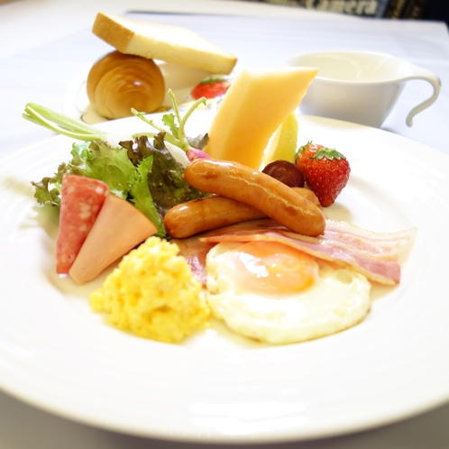 朝食ブッフェ(洋食一例)