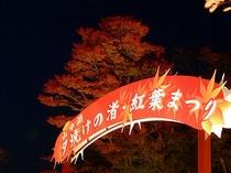 夕焼の渚・紅葉祭り・看板