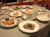 ベジタブルコース料理