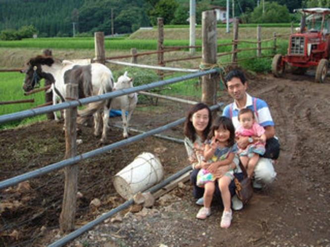 体験プラン...動物との触れ合いと牛の乳搾り