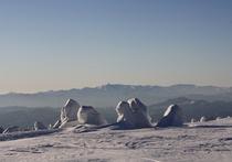 樹氷スノーシュートレッキング(東南東に歩いて40分のアイスモンスター)体験02