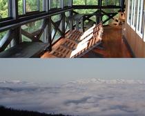 テラスから見られる雲海