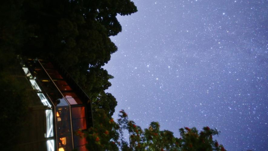星空に囲まれたペンション