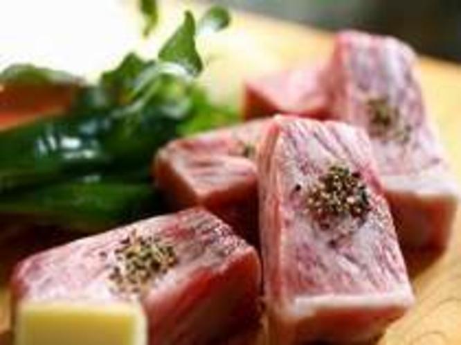 料理一例・飛騨牛ステーキ