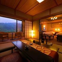 【特別室 -最上階 和洋-】(檜風呂+和12畳+洋)