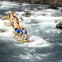 【体験】北山村、期間限定のリバーアドベンチャー!丸太の筏で激流くだり。筏師を信じていざ!