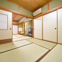 *和室(一例)広めのお部屋で家族や大切な人とのひと時をお過ごしください。