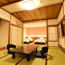 *客室一例/50型液晶テレビを備えた和洋室でごゆっくりお過ごしください
