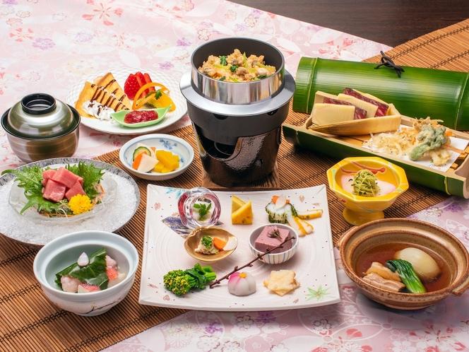 *夕食一例/(春料理)