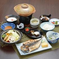 *朝食一例/伊豆半島名物の干物など旅館ならではの朝食をお召し上がりください。