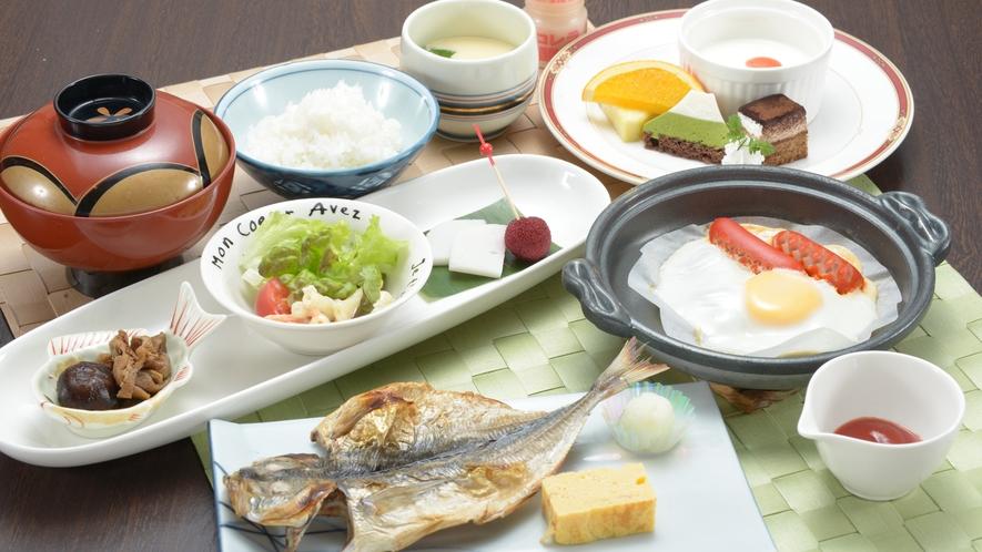 *お子様の朝食一例/和食を中心とした内容でデザートも付いております。