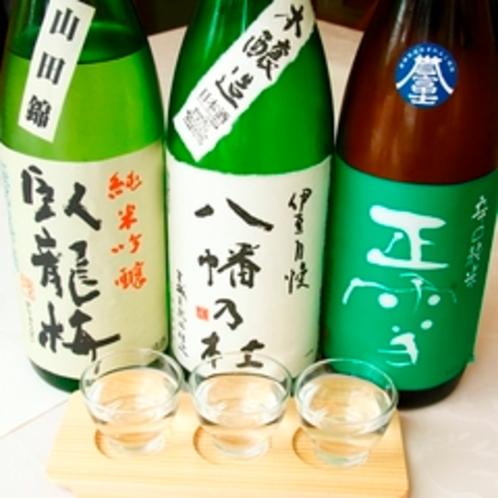 伊豆地酒の呑み比べ