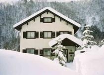 真冬のベルクヒュッテ