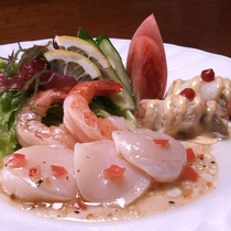 夕食「シェフおまかせ洋食コース」一例