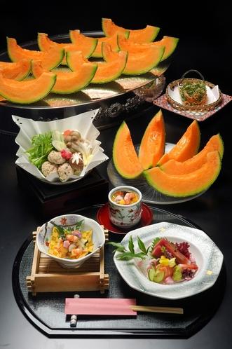 夏の会席料理(メロン食べ放題)
