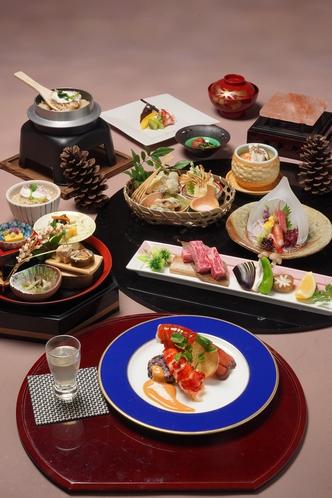 秋の最上級会席料理(一例)