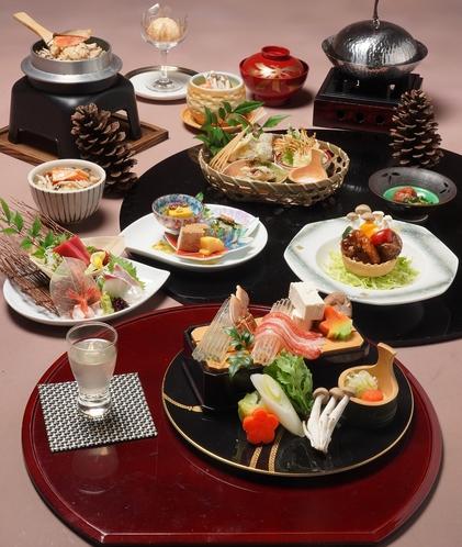 秋の会席料理(一例)