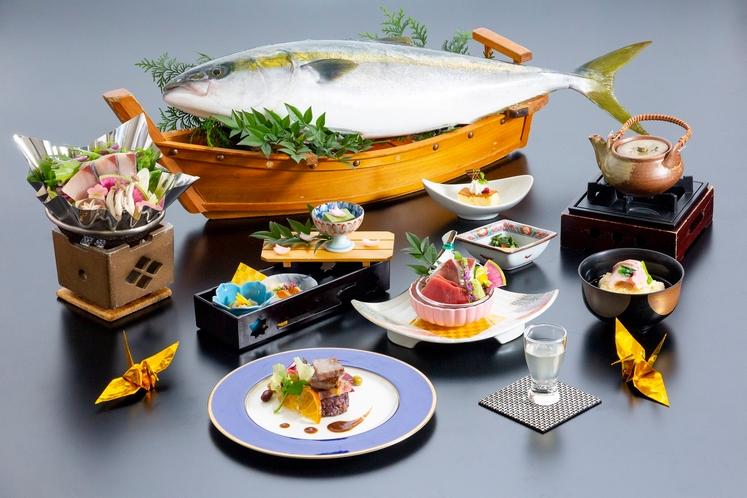 冬の厳選食材を使用した会席料理(一例)