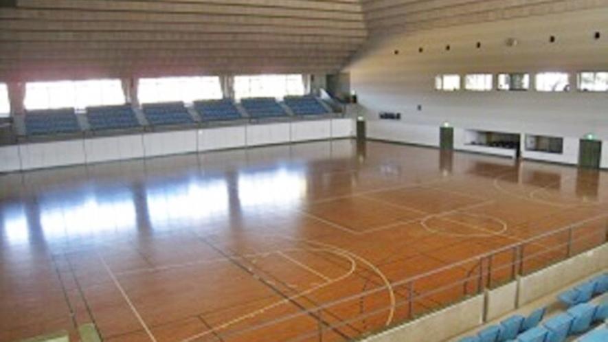 *体育館アリーナバレーボール2面、バスケ2面、ハンドボール1面、卓球台15台、バドミントン8面