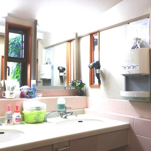 本館洗面所 リニューアルしましたので、快適にご利用下さい