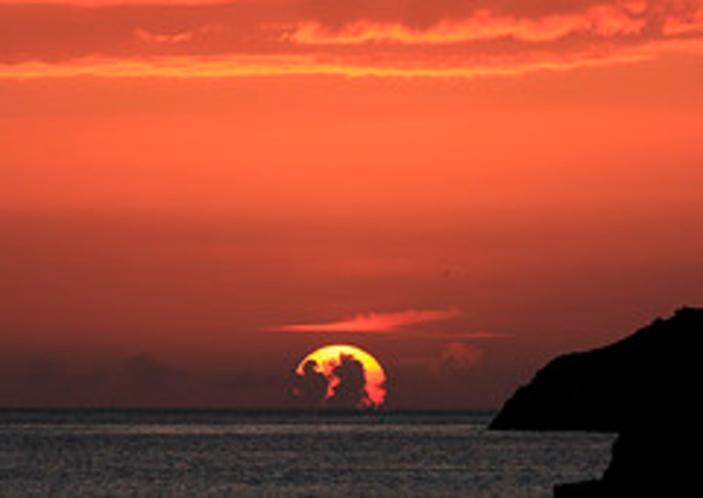 根獅子の夕陽