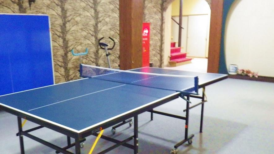 *館内の卓球コーナー/広さもしっかりある卓球室!これぞ温泉の楽しみのひとつ♪