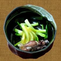 浅葱とホタルイカの味噌和え