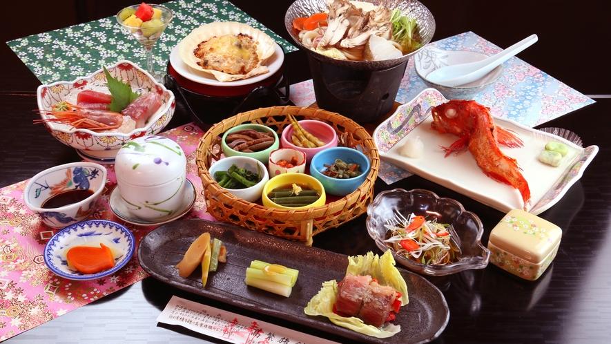 【スタンダードコース】地元の採れたて食材と旬の山海膳※キンキは運が良ければ付きますが通常は一般魚です