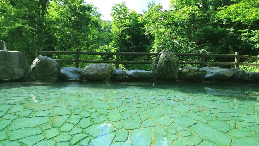 景色を眺めながら露天風呂に広々とご入浴できます