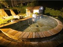男性用露天風呂♪ 雰囲気抜群で星空もサイコーです!