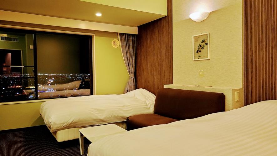 6F禁煙ルーム 緑を基調としているお部屋もあります
