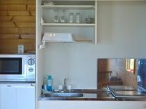 ミニキッチンを完備しています。長期宿泊にも便利です