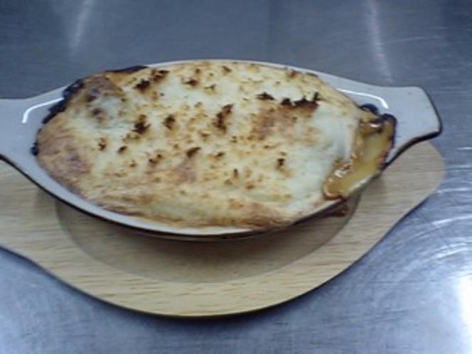 鮭山芋チーズグラタン