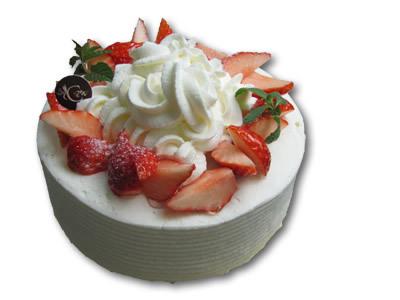 【選べるケーキは4種類】苺のデコレーションケーキ(イメージ一例)